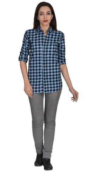 Shirt Casual Checkered Multicolor Nakoda Women's Creation qw8U41P