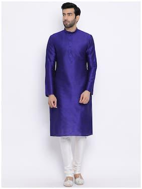 NAMASKAR Blue Solid Kurta and Churidar with