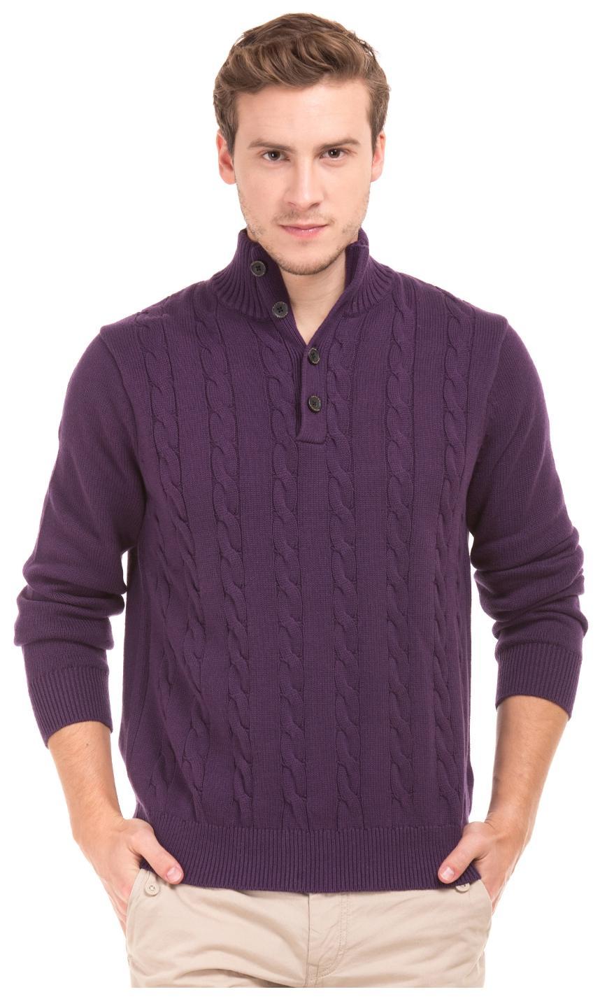 Nautica Men Cotton Sweater , Purple
