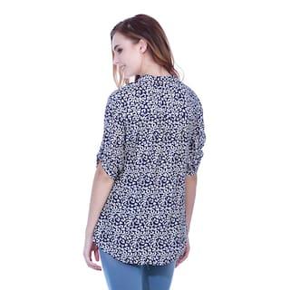 Navy animal Print shirt tunic
