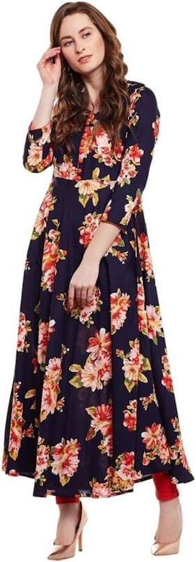 Women Floral Fit and Flare Kurti Dress