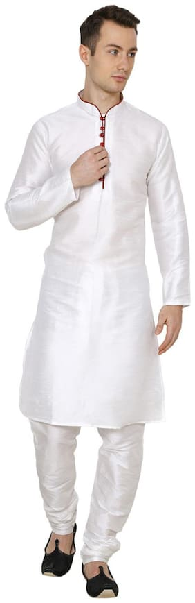 Nawab-saheb Men's Cotton Silk Kurta Churidar