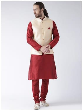 Nawab-Saheb Festive Silk Kurta Pyjama And Jacket Set