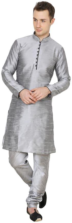Nawab-saheb Men's Cotton Silk Kurta Churidar