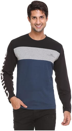 NBOD Men Multi Regular fit Cotton Round neck T-Shirt - Pack Of 1