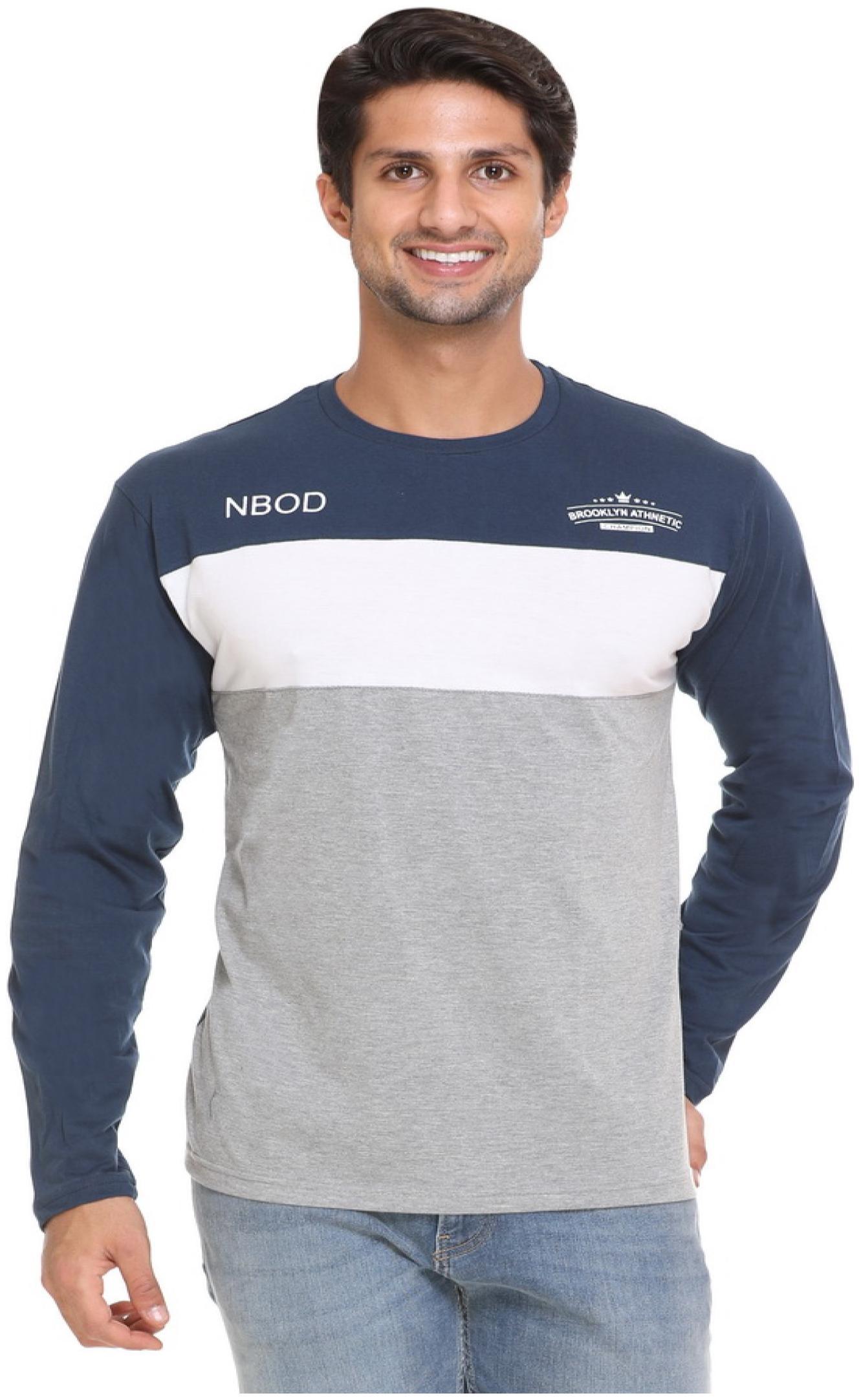 NBOD Mens Full Sleeves T Shirt