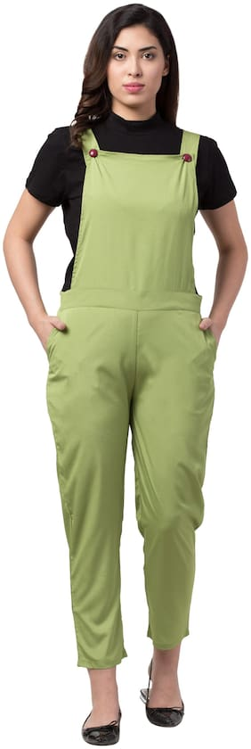 Neelja Solid Dungaree - Green