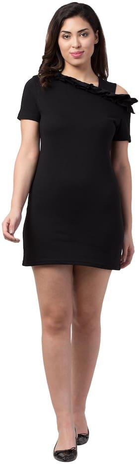 Neelja Black Solid Bodycon dress