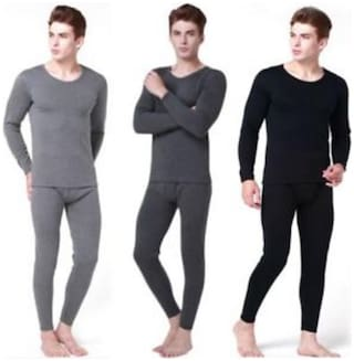 Nephra Men Wool Thermal Bottom - Assorted