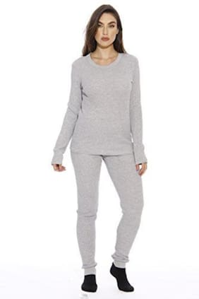 Nephra soft winter innerwear thermals for women #set of top and bottom