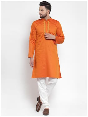 NEUDIS Men Orange Regular Fit Kurta