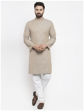 NEUDIS Men Grey Regular Fit Kurta