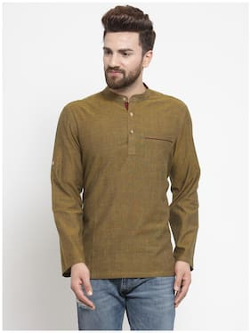 NEUDIS Men Brown Regular Fit Kurta