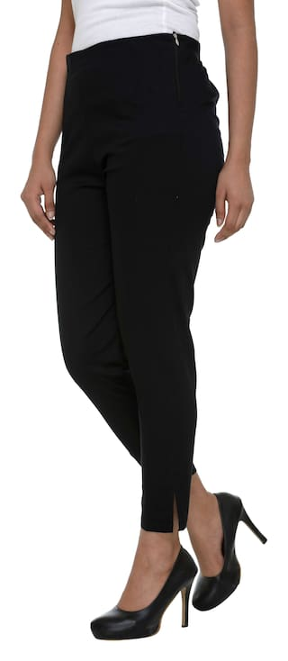 Cotton Trousers L Chinos Women's Neuvin Black Lycra Pants Zwpxq4A7
