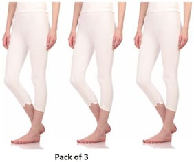 Neva Esancia Women Thermal Lower OMS16 Off_White (Pack of 3) Size: 90
