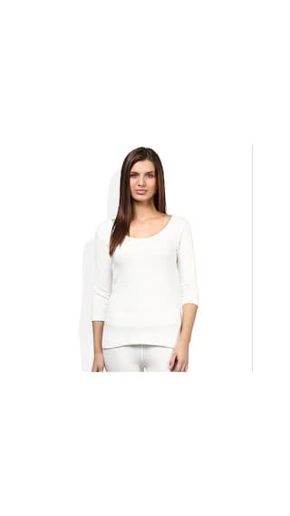 fac27667d Buy NEVA Quilt Essancia Ladies White Thermal 3 4 Sleeves slip pack ...
