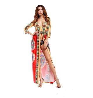 Bohemia totem African print digital New dress Wind dress gSTqxB