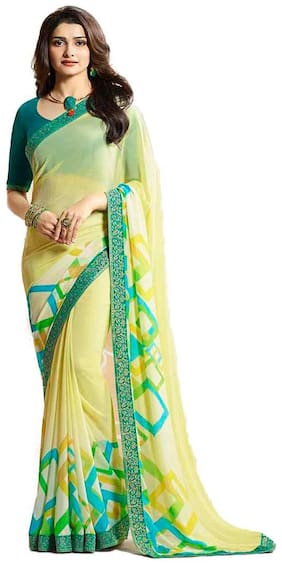 Georgette Lehariya Saree