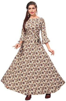 Women Floral Casual Gown