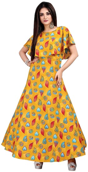 Women Printed Casual Gown