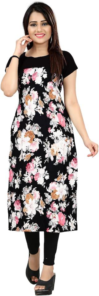 NEW ETHNIC 4 YOU Women Multi Floral Straight Kurta