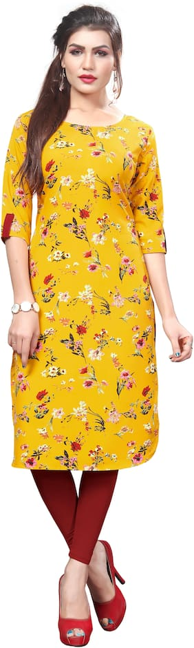 Women Floral Straight Kurta ,Pack Of 1