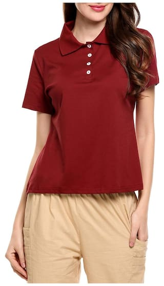 Elastic Polo Casual Shirt Solid Polo Short Women Collar New Sleeve fR08Swxq