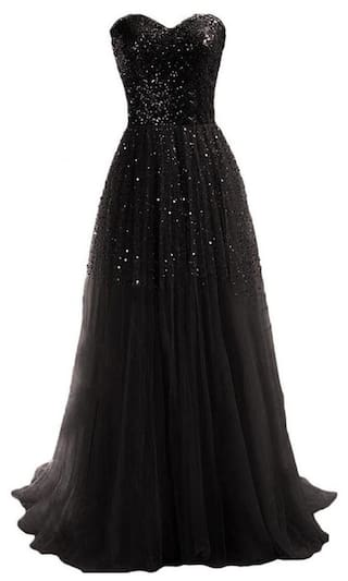 Dress Gown Evening Women Long Sequins Party Sexy Ball Strapless f8qBw4