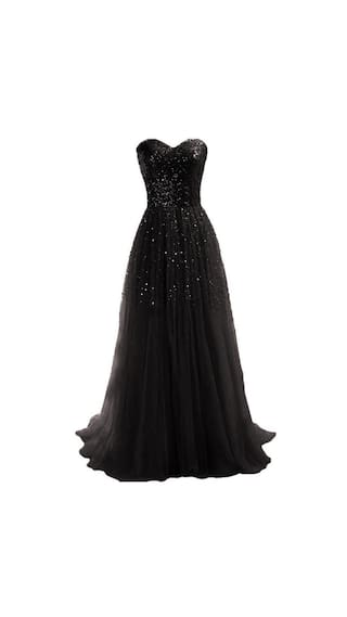 Sexy Dress Sequins Women Long Gown Party Ball Strapless New Cocktail Evening 5Rfxx