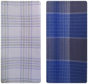NEWLADIESZONE Cotton Checked Mundu Dhoti - Multi