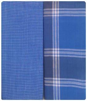 NEWLADIESZONE Cotton Checked Mundu Dhoti - Multi