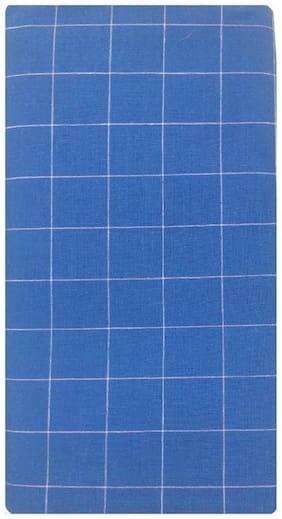 NEWLADIESZONE Cotton Checked Mundu Dhoti - Blue