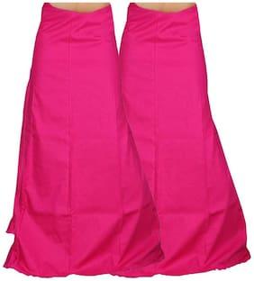 Newladieszone Pink Cotton (Pack Of 2) Peticotes