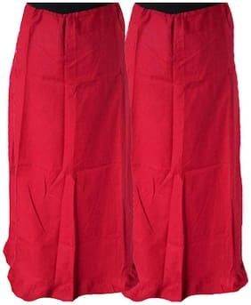 NewLadiesZone  Red Pack Of 2Cotton Peticoat