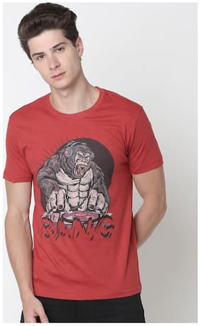 Men Crew Neck Printed T-Shirt