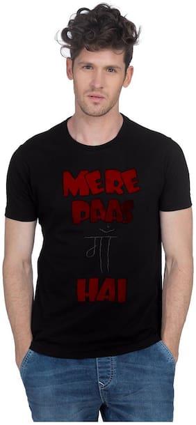 Newport Men Slim fit Crew neck Printed T-Shirt - Black