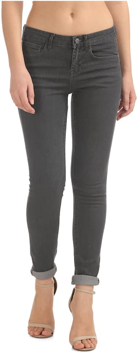 Newport Women Regular Fit Mid Rise Solid Jeans - Grey