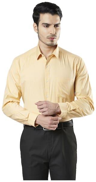 Nextlook Men Regular fit Formal Shirt - Yellow