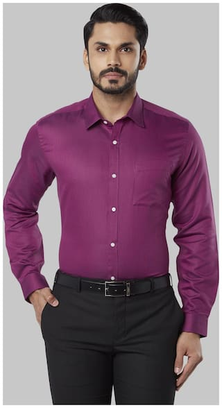 Nextlook Men Regular fit Formal Shirt - Purple
