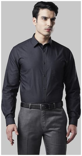 Men Regular Fit Solid Formal Shirt ,Pack Of Pack Of 1