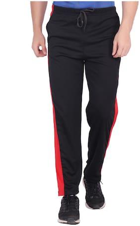 nice queen,solid black trackpants