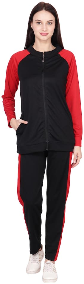 nice queen,solid black ,women's tracksuit
