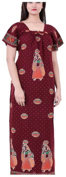 Women Printed Nightdress