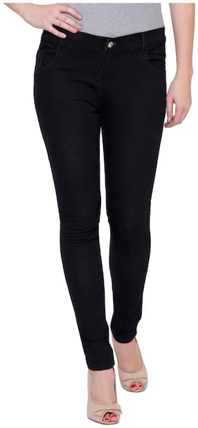 NJ's Women Black Straight fit Jeans