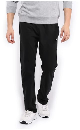 ba3ec9bacf4a Buy Nike Men Cotton Track Pants - Black Online at Low Prices in ...