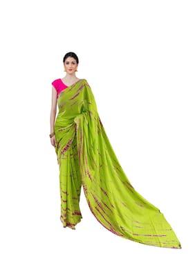 NIKHILAM Cotton Multi Printed Regular Saree  For Women