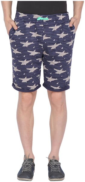 Nimble Men Blue Regular Fit Regular Shorts