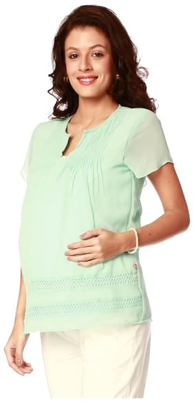 Nine Maternity Women Maternity Top - Green M