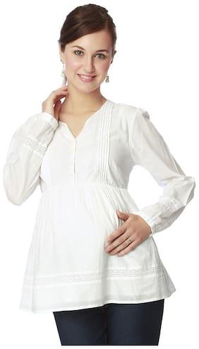 Nine Maternity Women Maternity Top - White Xl
