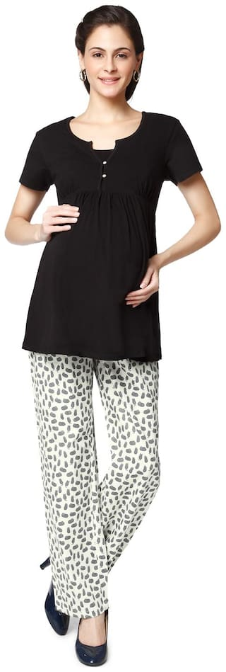 Nine Maternity Women Maternity Top - Multicolor S
